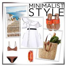 """#114 Minimalist Style"" by helena-bekker ❤ liked on Polyvore featuring Melissa Odabash, self-portrait and Mark Davis"