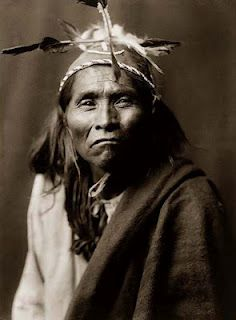 * Apache Tribe :  Ndee Sangochonh. Photo by Edward S. Curtis ~ ca. 1906.