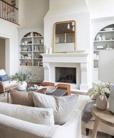 via heavywait - modern design architecture interior design home decor & Home Living Room, Living Room Decor, Living Spaces, Living Room Mantle, Decor Room, Living Area, Fireplace Mantels, Fireplaces, Stucco Fireplace
