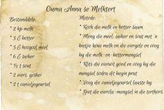 Ouma Anna se Melktert Fun Baking Recipes, Milk Recipes, Tart Recipes, Sweet Recipes, Cooking Recipes, Oven Recipes, South African Desserts, South African Recipes, Melktert Recipe