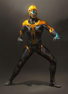 Cyberpunk Character, Cyberpunk Art, Character Concept, Character Art, Concept Art, Superhero Characters, Sci Fi Characters, Armor Clothing, Dark Artwork