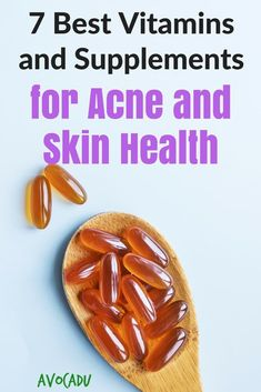 We don't always get all the nutrients we need from our diets, so we've rounded up the best vitamins and supplements for acne and skin health. Acne Remedies, Natural Remedies, Skin Care Regimen, Skin Care Tips, Organic Skin Care, Natural Skin Care, Castor Oil For Acne, Best Acne Treatment, Vitamins For Skin
