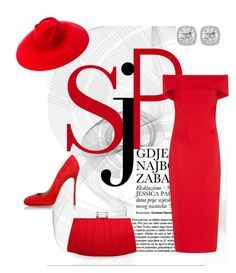 """""""Red fashion"""" by sharu-rupa-suresh on Polyvore featuring Cushnie Et Ochs, Dsquared2, Gucci, Frederic Sage and Nina"""