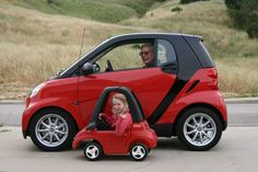 smart car  red  black  toy car kid