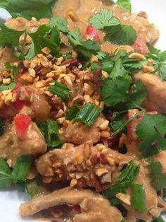 Thai Peanut Chicken in the Crockpot: 24 day Advocare challenge clean eating recipe