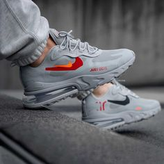 The Nike Air Max 270 React 'Just Do It' has arrived and they are perfection! Cute Nike Shoes, Cute Nikes, Nike Air Shoes, Nike Shoes Outlet, Nike Shoes For Men, Sports Shoes, Nike Boots Mens, Shoes Women, Adidas Shoes
