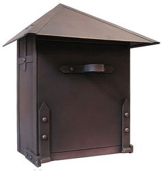"""Waterglass Studios Large WallMounted Solid Copper Mailbox by Waterglass Studios. $409.79. 13.25"""" high x 11"""" wide x 7.25"""" deep. This large pure Copper Mailbox can hold plenty of mail, yet it retains its natural appearance and is unobtrusive and refined. Waterglass Studio Mailboxes are hand crafted from 100 Copper in Canada, honoring the tradition of elegance, simplicity, and quality craftsmanship.About the finish:Waterglass Studio Mailboxes are made out of plain, old cop..."""