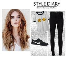 """""""Untitled #93"""" by mylifeasrysa on Polyvore featuring Chicnova Fashion, Frame Denim and NIKE"""