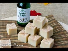 Sugar-Free Maple Coconut Refrigerator Fudge (Low Carb)