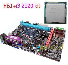 새로운 마이크로 ATX DDR3 LGA1155 H61 + I3 2120 마더 보드 키트