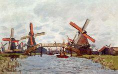 Windmills near Zaandam - Claude Monet - WikiPaintings.org