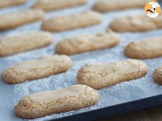 Pretty hard to bake a nice Charlotte or a Tiramisu when you have a gluten free diet. But with this recipe, bake your own lady fingers, and enjoy them in a cake or simply with a cup of coffee! Gluten Free Lady Fingers, Lady Fingers Recipe, Gluten Free Deserts, Gluten Free Treats, Gluten Free Recipes, Biscuit Sans Gluten, Cookies Sans Gluten, Panatone Bread, Patisserie Sans Gluten
