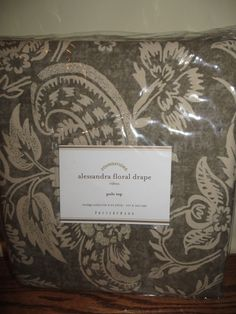 Pottery Barn Lucianna Medallion Drape Panel Curtain 50x63