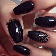 Stephanie Loesch @_stephsnails_ #black#longnails#...Instagram photo | Websta (Webstagram)