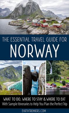 Norway Travel Guide and Itinerary. Oslo Bergen Stavanger Tromso Trolltunga Kjeragbolten Svalbard Lofoten Islands Pulpit Rock and more. babies flight hotel restaurant destinations ideas tips Norway Travel Guide, Europe Travel Tips, Italy Travel, Travel Guides, Travel Destinations, Budget Travel, Sweden Travel, Shopping Travel, Croatia Travel