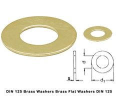 DIN 125 Brass Washers Brass Flat Washers DIN 125 #DIN125BrassWashers  #BrassFlatWashersDIN125 We are leading manufacturers and suppliers of DIN 125 Brass Washers Brass Flat Washers Brass Plain Washers Brass Chamfered type B washers ( machined Washers)  and pressed type A washers from our factory in Jamnagar India.  These Brass Washers Flat washers to DIN 125 are produced on power presses of high accuracy within prescribed ISO tolerances.