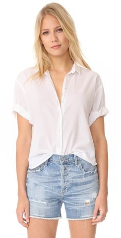 XIRENA Chance Short Sleeve Button Down | SHOPBOP