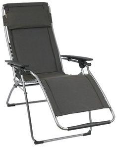 Lafuma LFM3061-4258 Relax-Liegestuhl, klappbar und verstellbar, Futura, ardoise dunkelgrau Lafuma