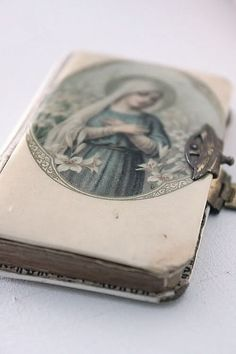 Vintage Blessed Mother Mary Prayer Book - just beautiful! Blessed Mother Mary, Blessed Virgin Mary, Religious Icons, Religious Art, Vanitas, Image Jesus, Prayers To Mary, Queen Of Heaven, Catholic Art