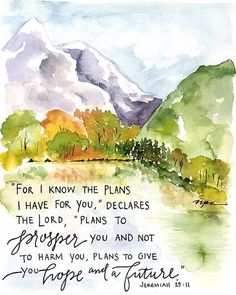 For I know the thoughts that I think toward you, says the Lord, thoughts of peace and not of evil, to give you a future and a hope. Scripture Art, Bible Art, Bible Quotes, Bible Verses, Scriptures, Encouragement Scripture, Jeremiah 29 11, Biblical Inspiration, I Know The Plans