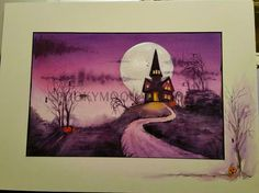 pink ghost watercolor remarque onmat available