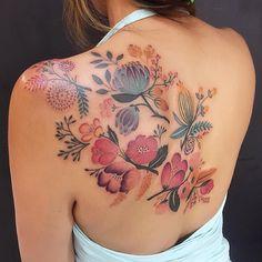 @lucylululu • #flower #tattoo #tattooedgirls #tattooedwomen #flowertattoo @jessyendotcom @camsupply @h2oceanproteam @officialh2ocean @eternalink