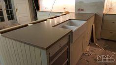 #Aufmaß, #Lieferung und #Montage der #Cashmere #Caesarstone #Arbeitsplatten in Kopenhagen.  http://www.maasgmbh.com/aktuelle-kopenhagen-cashmere-caesarstone-arbeitsplatten-cashmere-kopenhagen