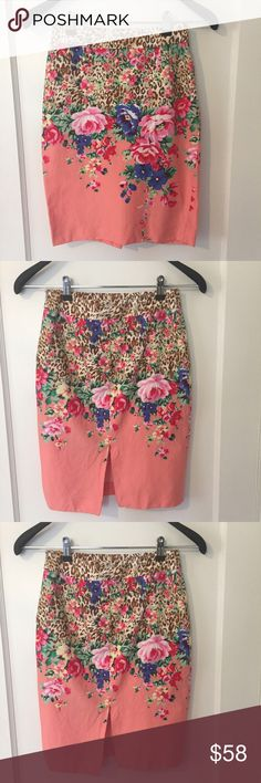 "Blumarine Floral Made in Italy!!! Part of seam inside Skirt is loose/ Waist: 25"" Length: A bit over 21"" Feel free to make a reasonable offer 😃 Blumarine Skirts Pencil"