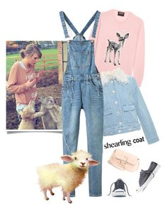 """""""Wooly Sweetness'"""" by dianefantasy ❤ liked on Polyvore featuring moda, Markus Lupfer, Chloé, Converse, Fendi, polyvoreeditorial y shearlingcoat"""