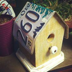 License plate bird house - great idea!