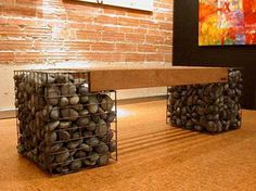 This sculptural garden bench makes a contemporary statement both indoors and out.