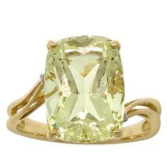 Quartz Ring in 14K yellow gold $249