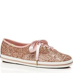 Kate Spade Keds For Kate Spade New York Glitter Sneakers Rose Gold