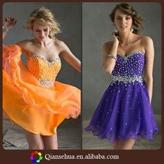 M1155 Sweetheart Neck Organza Ball Gown Rhinestone Crystal Beaded Short Sparkly Homecoming Dresses