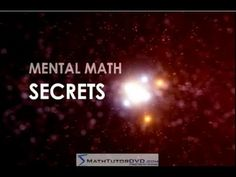 Mental Math Secrets - Multiply 2-Digit Numbers Rapidly!