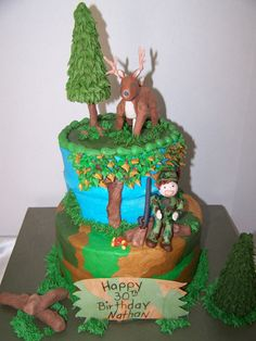Hunting cake Cute idea All About Cake Pinterest Cake