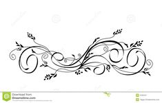 Vector Floral Scroll Ornament Royalty Free Stock Photography ...