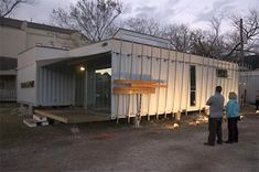 Screen Under Construction on South Wall of Shipping Container House at 206 Cordell St., Houston, Constructed by NumenDevelopment