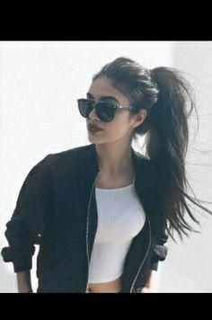 Messy ponytail....