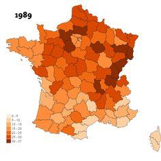 Visualisez vingt-cinq ans de désindustrialisation dans les départements français
