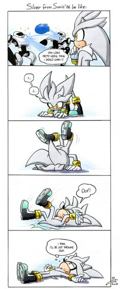 Silver's spin by FinikArt on DeviantArt<<<ok that was friggin adorable!!