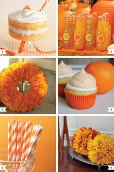 Orange party ideas on http://www.chickabug.com/blog