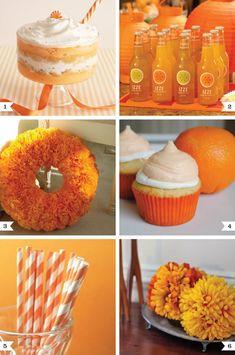 Orange party ideas on http://www.chickabug.com/blog