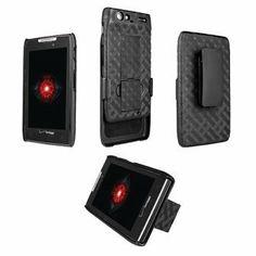 nice Android Phone Cases | OEM Motorola DROID RAZR MAXX Shell Combo w/Holster & Kickstand MOT912M