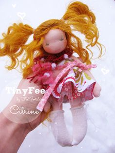 Meet Citrïne...a TinyFee handmade by FeeVertelaine <3