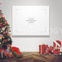8x10 Horizontal Christmas Holidays Digital Poster by Mockupology