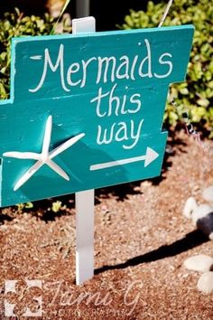 Under the Sea birthday party ideas Mermaid sign Mermaid Theme Birthday, Little Mermaid Birthday, Little Mermaid Parties, Little Mermaid Decorations, Mermaid Themed Party, Mermaid Party Games, Mermaid Birthday Decorations, Under The Sea Decorations, Pool Party Games