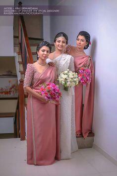Mua by Danushka of shimmer - Modern Dream Wedding Dresses, Bridal Dresses, Bridesmaid Saree, Bridesmaids, Wedding Hairstyles, Bridesmade Hairstyles, Indian Bridal Outfits, Bridal Dress Design, Saree Wedding