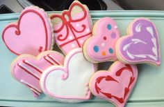 Hearts and Presents - Decorated Sugar Cookies by I Am The Cookie Lady