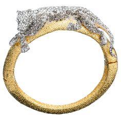Siyabona Gold Medium Panther Hinge Bracelet::Bracelets::Jewelry By Category::Alexis Bittar